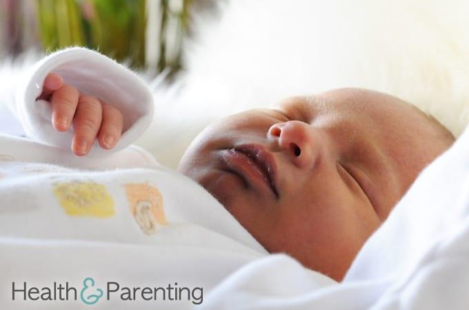 visiting a newborn baby